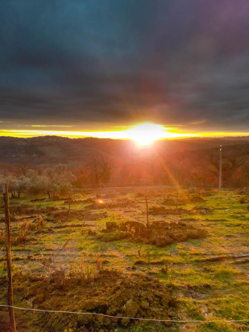 tramonto sulla collina di Rolando